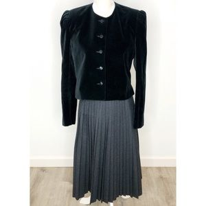 Saks Fifth Avenue Vintage 70s Black Velvet Jacket